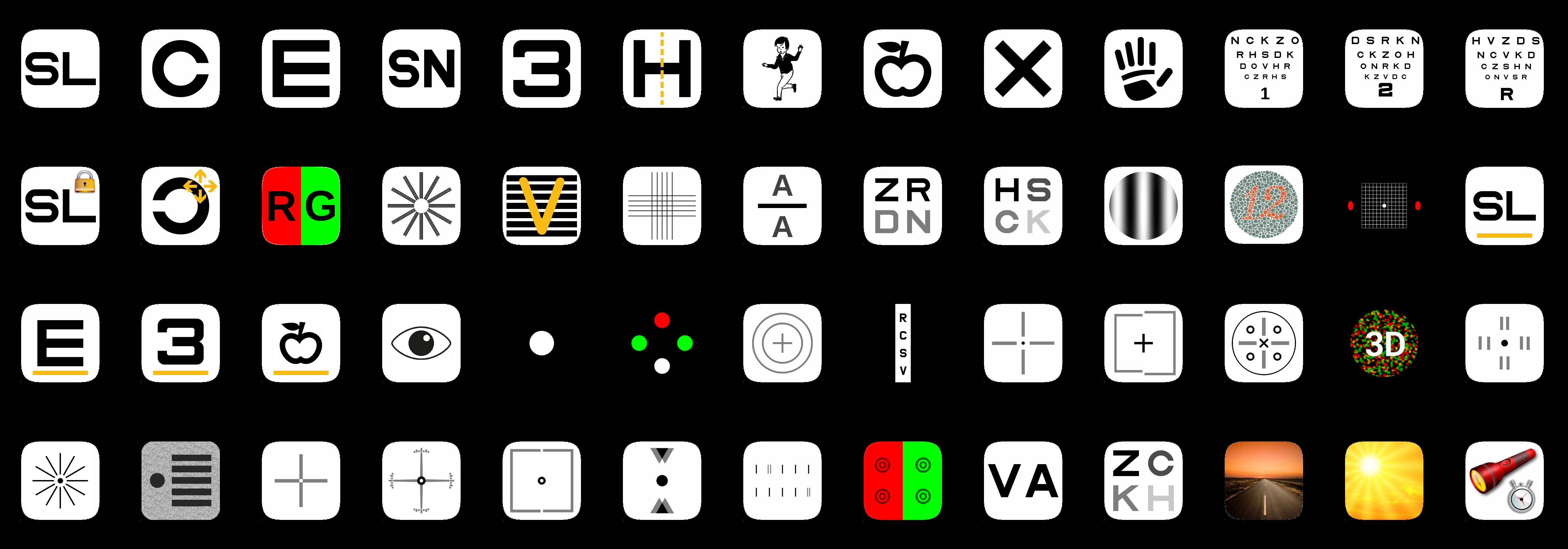 C903P vision chart tests